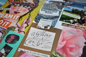 Closeup Vision Board