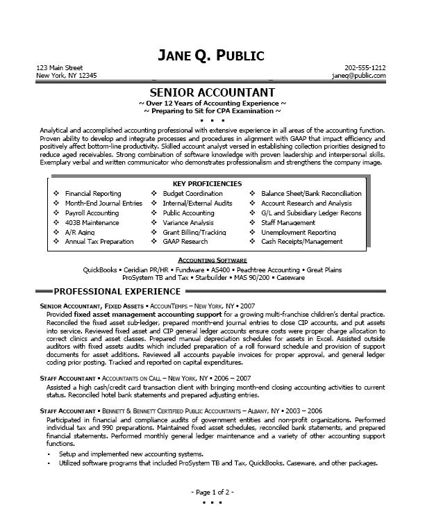 Accountant Resume Sample. accounting position resume sample resume ...