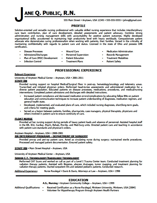 good nursing resume sample travel nursing resume template a