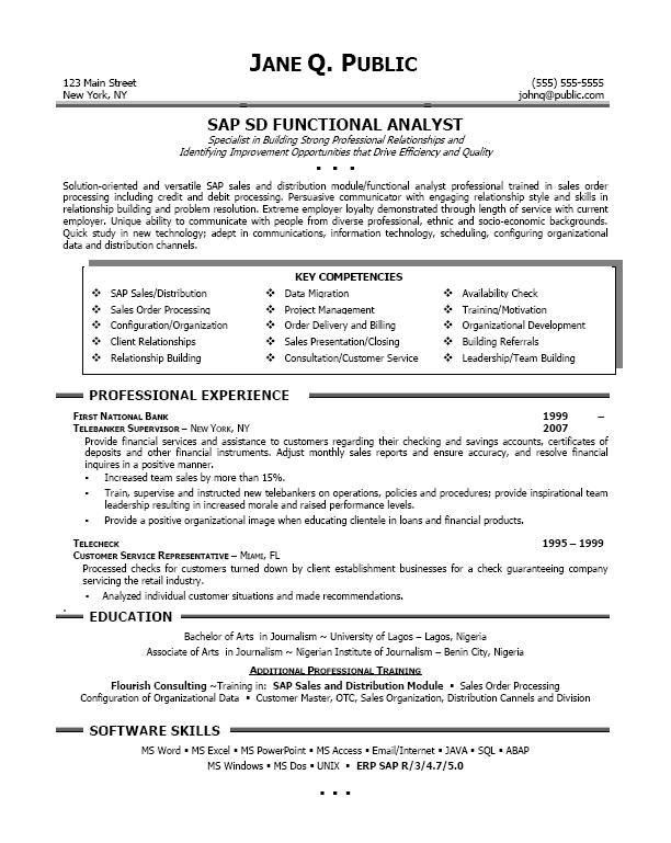 sap basis 2 experience resume sap testing resumes hr bestsellerbookdb - Sample Sap Resume