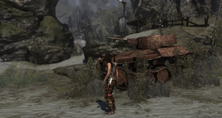 A tank, shame Lara can't repair it and drive around the island destroying shit.