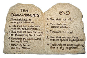 Image result for the 10 commandments