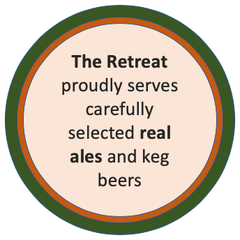 Real ale at The Retreat