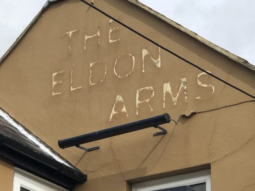 The Eldon Arms sign removed