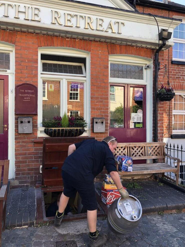 Real ale deliveries to The Retreat pub in Reading