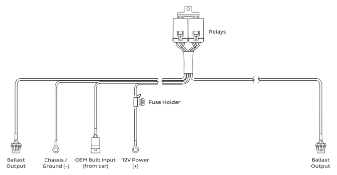 hd relay 9006 relay harness i the retrofit source