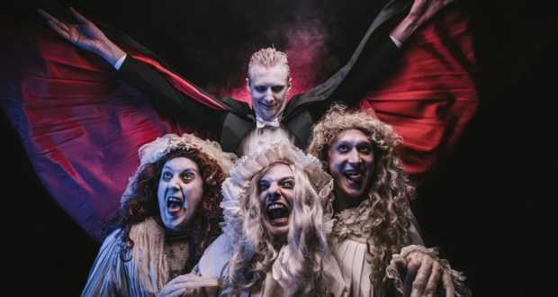 Dracula and three female vampires