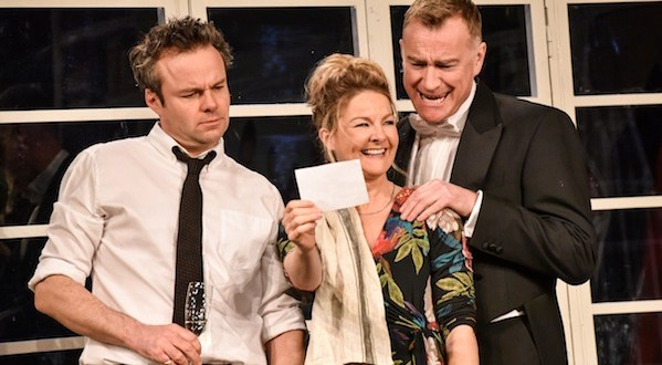 Jamie Glover as Peter, Sarah Hadland as Elizabeth, Raymond Coulthard as Carl in Whats in a Name