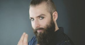Man with hipster beard