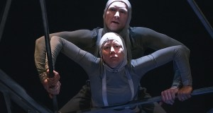 Adam Slynn and Maria Gray in The Machine Stops