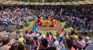 Open Air Theatre - with Wonderland lettering adorning the space