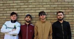 four tracksuit clad young men