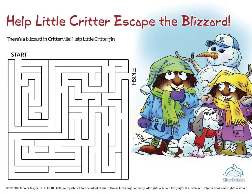Download Little Critter Printable Activities