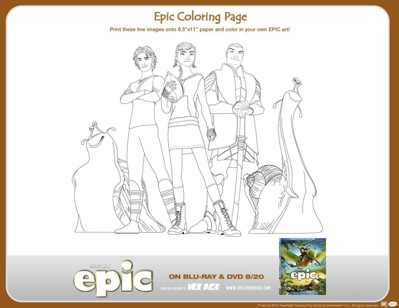 Epic Printable Activities