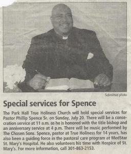 Bishop Phillip Spence