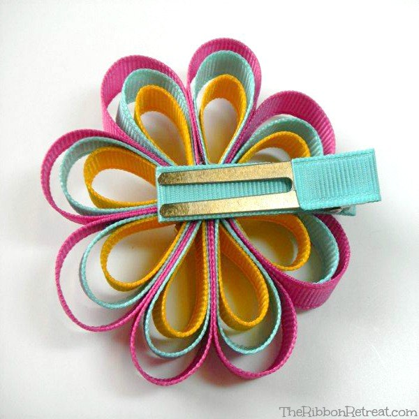 Loopy Ribbon Flowers   The Ribbon Retreat Blog Loopy Ribbon Flower   The Ribbon Retreat Blog
