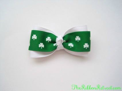 simple st patrick s day bow the ribbon retreat blog