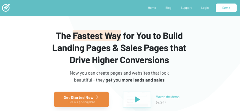 the homepage of OptimizePress
