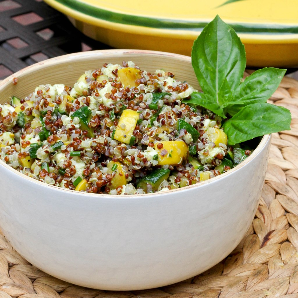 Summer Squash Salad with Quinoa and Mozzarella