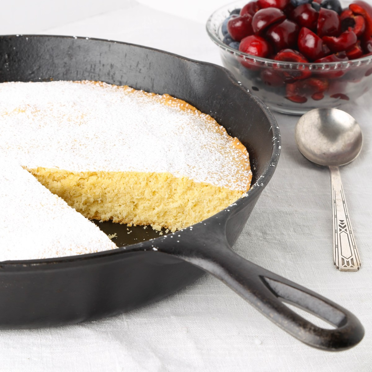 Quick and Easy Cast Iron Skillet Pound Cake