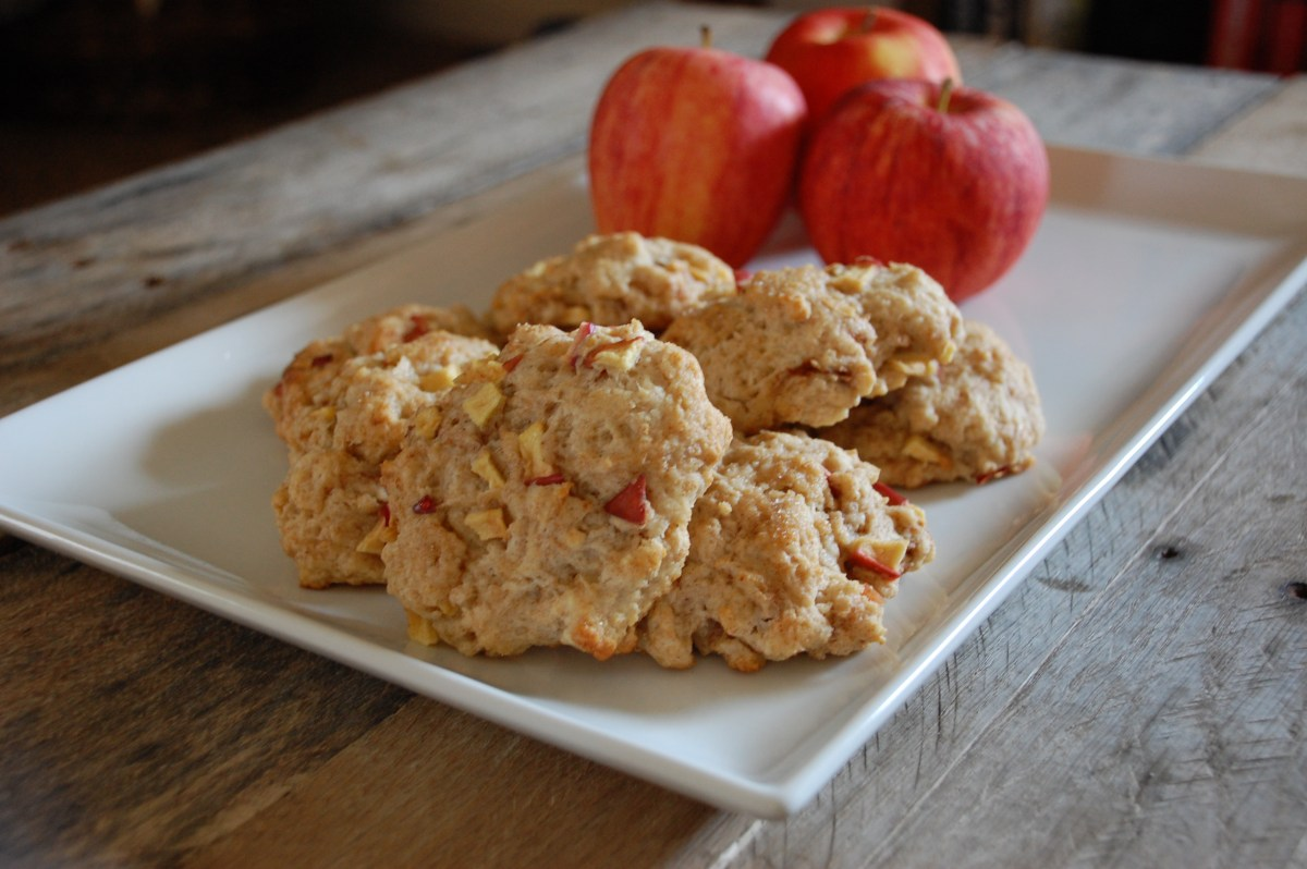cinnamon apple scones.
