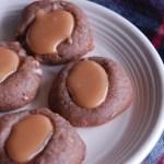 coffee toffee thumbprint cookies.
