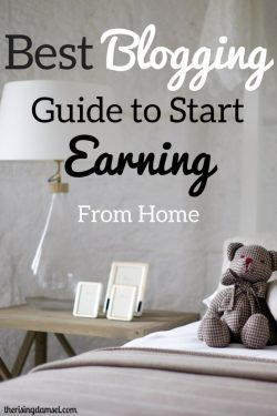 Best blogging guide to start earning from home. There's no need to be afraid of starting something new. #blogger #blogging #earn #startablog #career #wah #wahm