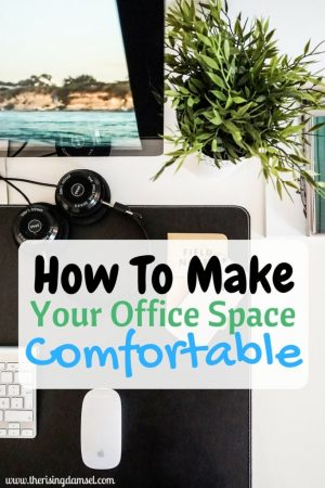 Productive! Comfortable! An office Fit for a CEO The Rising Damsel. #girlboss #career #success #comfort #office #work