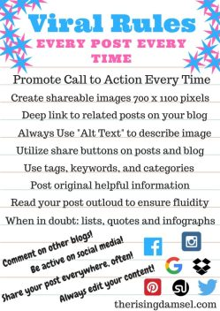 Viral Rules for Every Blog Post. The Rising Damsel