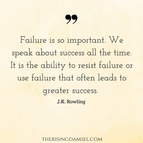 Failure is so important. We speak about success all the time. It is the ability to resist failure or use failure that often leads to greater success. I've met people who don't want to try for fear of failing #quotes #jkrowling #succes #failure