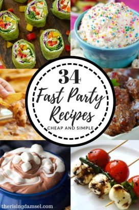 34 Cheap and Easy Party Pleaser Recipes. The Rising Damsel