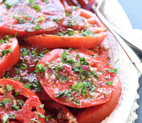 31 Fast and Easy Party Pleasers - Cheap Recipes to Impress. Marinated Tomatoes. The Rising Damsel
