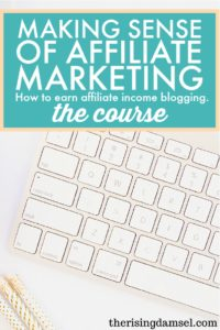 Making Sense of Affiliate Marketing The Course. The Rising Damsel #affiliatemarketing #howto #bestguide #earnmoney