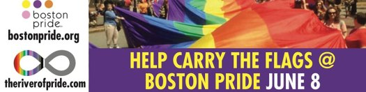 The River of Pride Flag & The Unity Pride Flag Boston 2019
