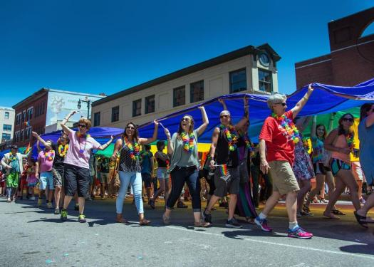 The River of Pride Flag 2016 Portland Pride