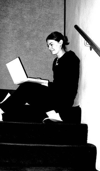 Lady Using Laptop