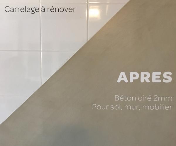 Beton Cire Pour Une Renovation De Salle De Bains Carrelage A Nimes 30