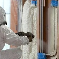 polyurethane insulation spray application