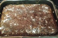 Brownie chocolate nueces hecho