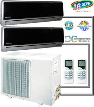 Ductless Air Conditioner, Dual Zone Mini Split AC Heat