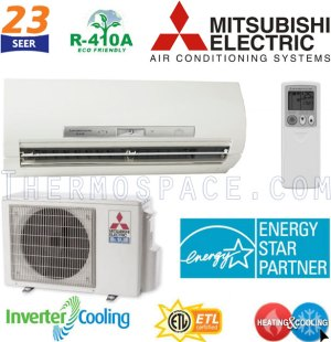 MSZFE12NA  MUZFE12NA Mitsubishi Mr Slim Mini Ductless Split
