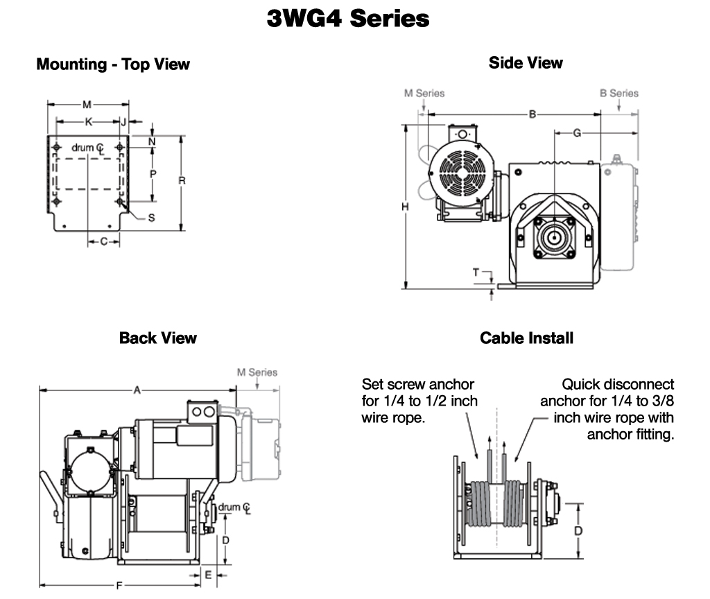 Hand Winch Diagram