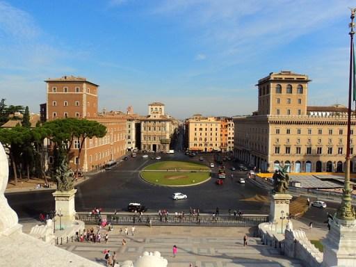 View of Piazza Venezia, Rome