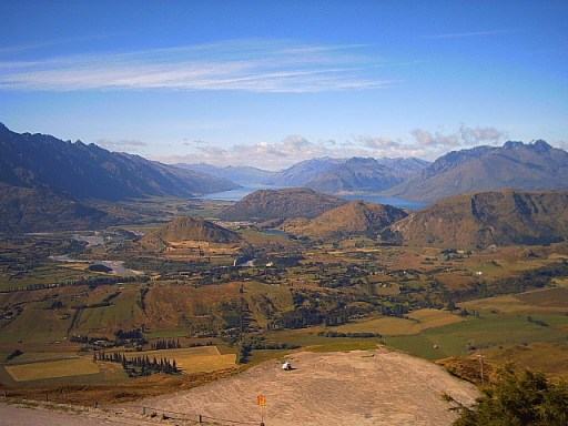 view from coronet peak, queenstown, new zealand