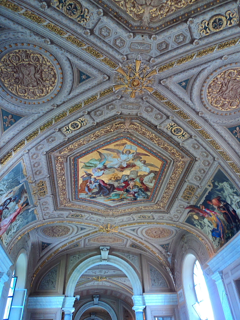 ceiling artwork in the Vatican Museum