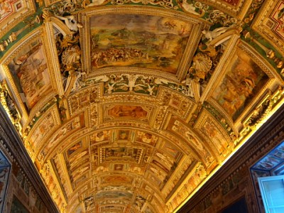 ceiling in the Hall of Maps in the Vatican City