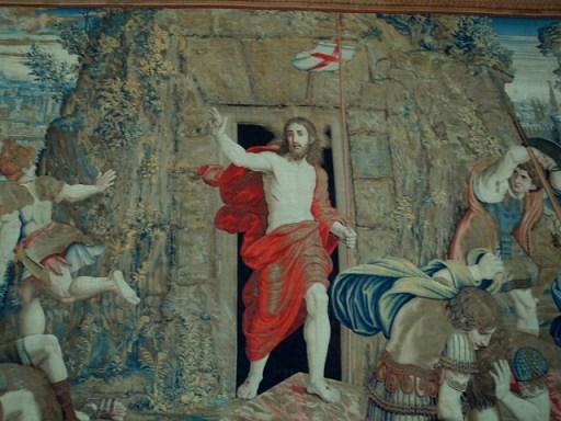 tapestry artwork in Vatican Museum