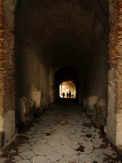 Tunnel leading to an Arena in Pompeii