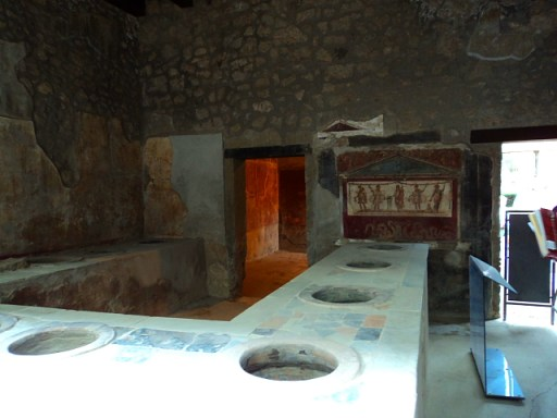 A kitchen in Pompeii, Italy