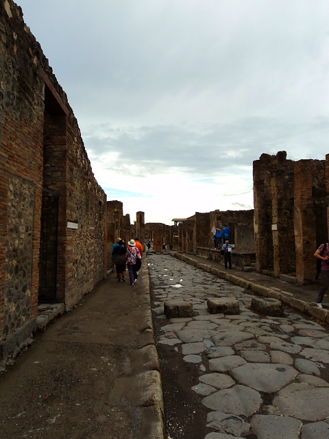 Street in the ruins of Pompeii, Italy
